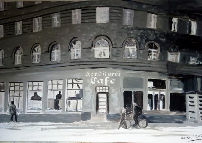 Ehemalige Konditorei und Café Nowka in Hannover (60 x 90 cm)