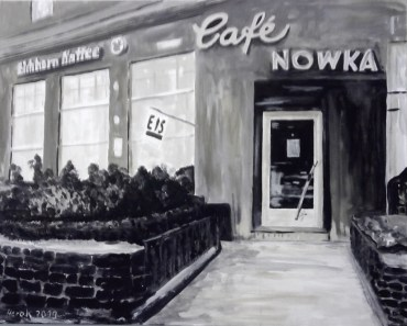 Ehemaliges Café Nowka in Hannover (80 x 100 cm)