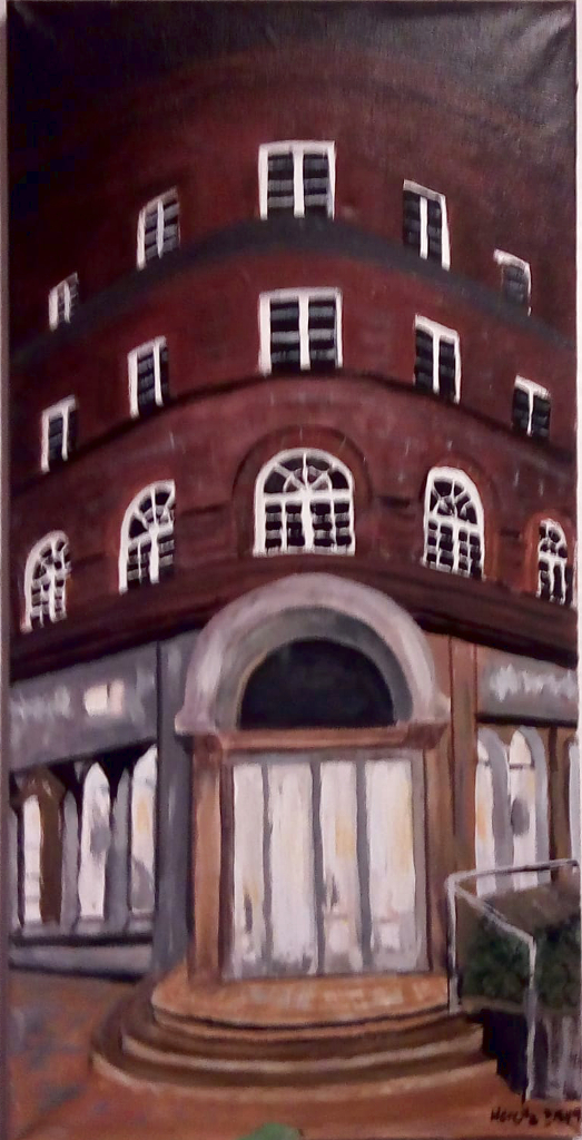 Wohnhaus in Hannover Eingang (40 x 80 cm)