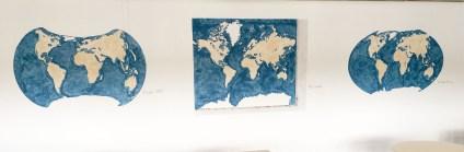 Die Erde in verschiedenen Darstellungen