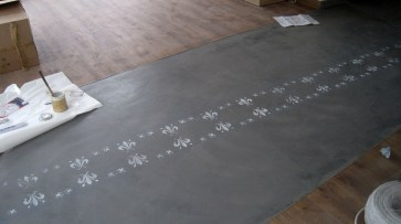 Fußboden Feuerwache Entstehung