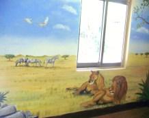 Wandmalerei in Bukoba, Tansania - Tiere der Serengeti