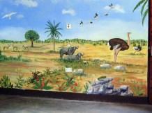 Wandmalerei - Tiere der Serengeti