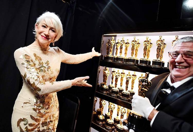 Hellen Mirren with the Oscars, Academy Awards 2018