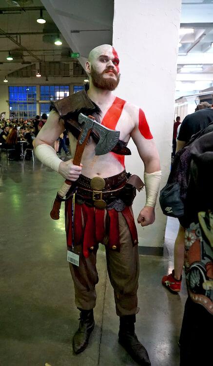 Kratos cosplay God of War Pyrkon 2019
