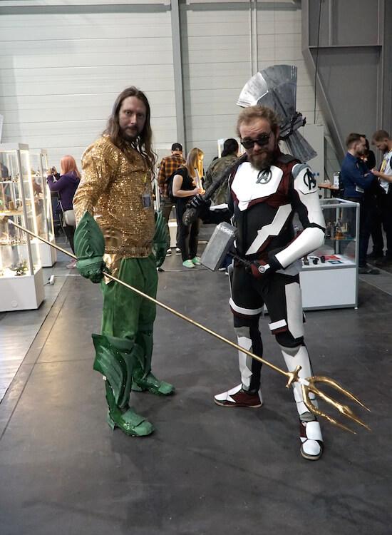 aquaman dc thor asgard marvel Pyrkon 2019