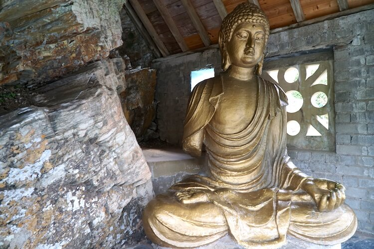 Buddha in Portmeirion, North Wales