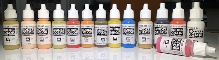 Vallejo Model Colors paints