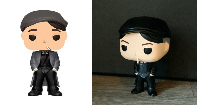 Funko Pop Thomas Shelby from Peaky Blinders a comparison of project to final result