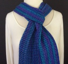 Hand dyed alpaca/silk and tencel scarf