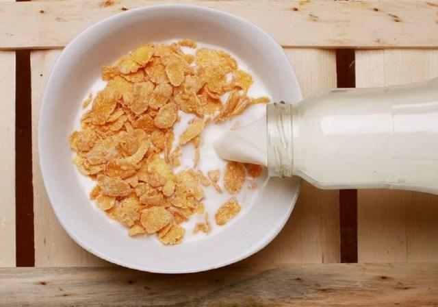 Lait, céréales, une base toute simple