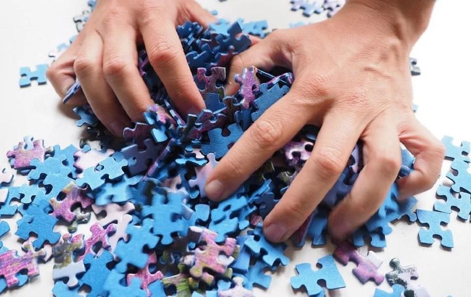 Un puzzle en pièces