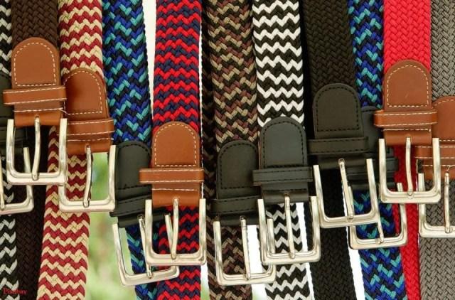 La ceinture homme prend des couleurs