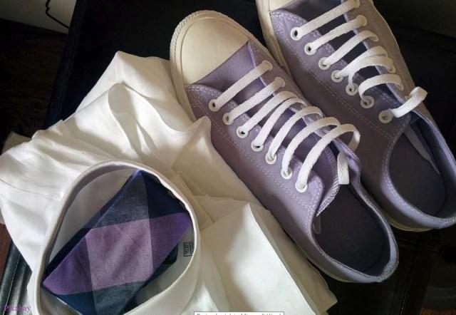 Le violet en accessoires