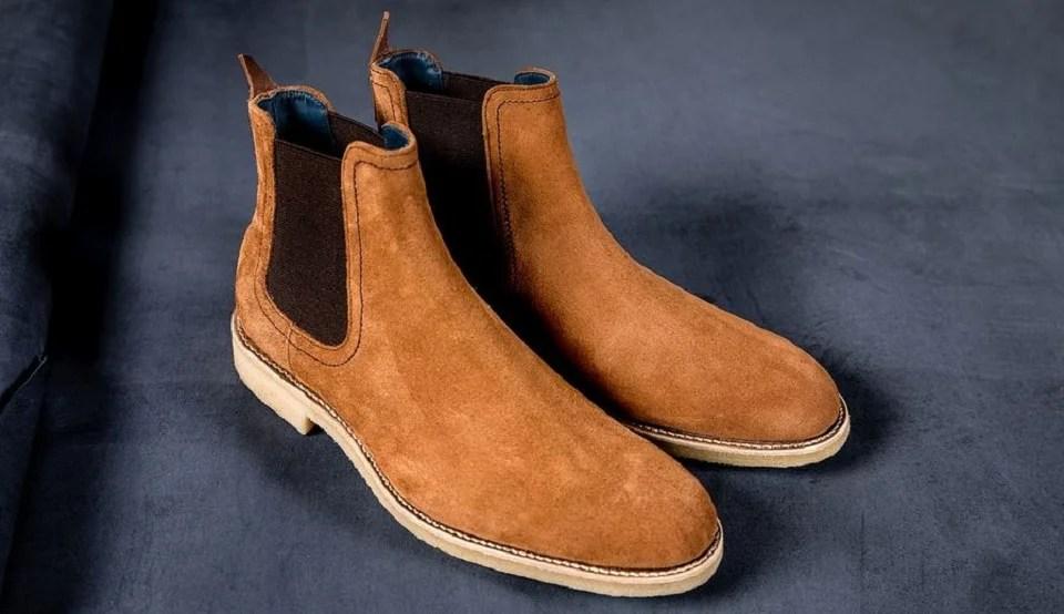 chelsea boots homme version daim