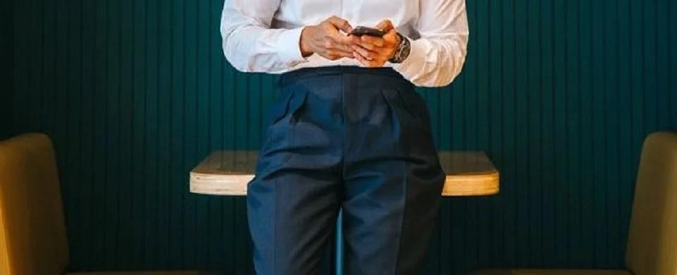 Pantalon à pince pour homme chic