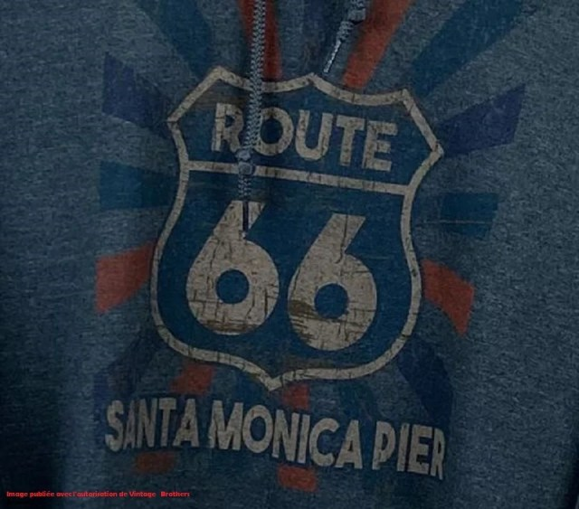 Sweat Route 66 de la e-friperie Vintage Brothers