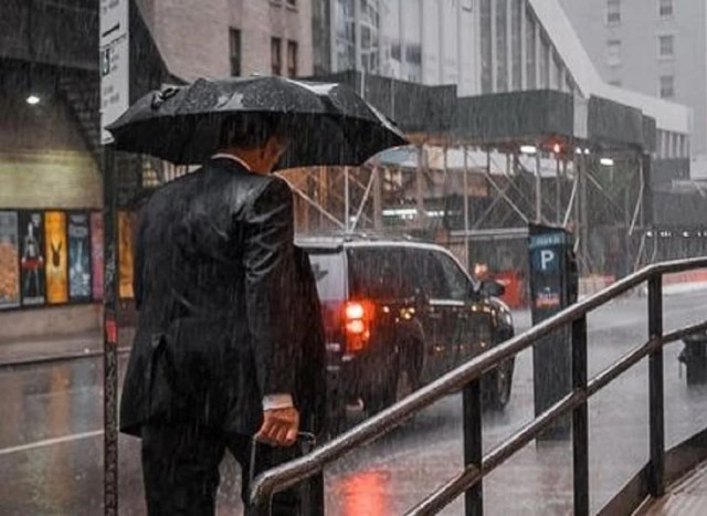 Parapluie masculin pliable, un petit pépin sous l'averse