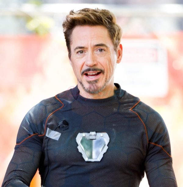 Tony Stark with his arc reactor in his chest in Avengers Infinity War