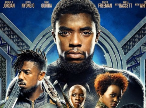 Chadwick Boseman as T'Chall as Black Panther trailer 2 poster