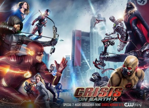 Crisis on Earth-X new poster featured Superheroes vs Supervillains