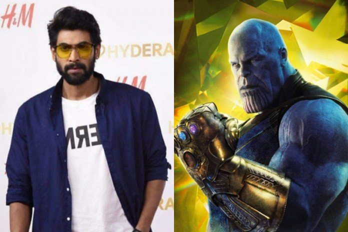 Rana Daggubati as Thanos in Telugu Avengers: Infinity War