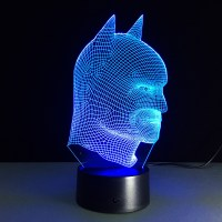 7 color 3D Illusion LED Batman lamp - free shipping worldwide