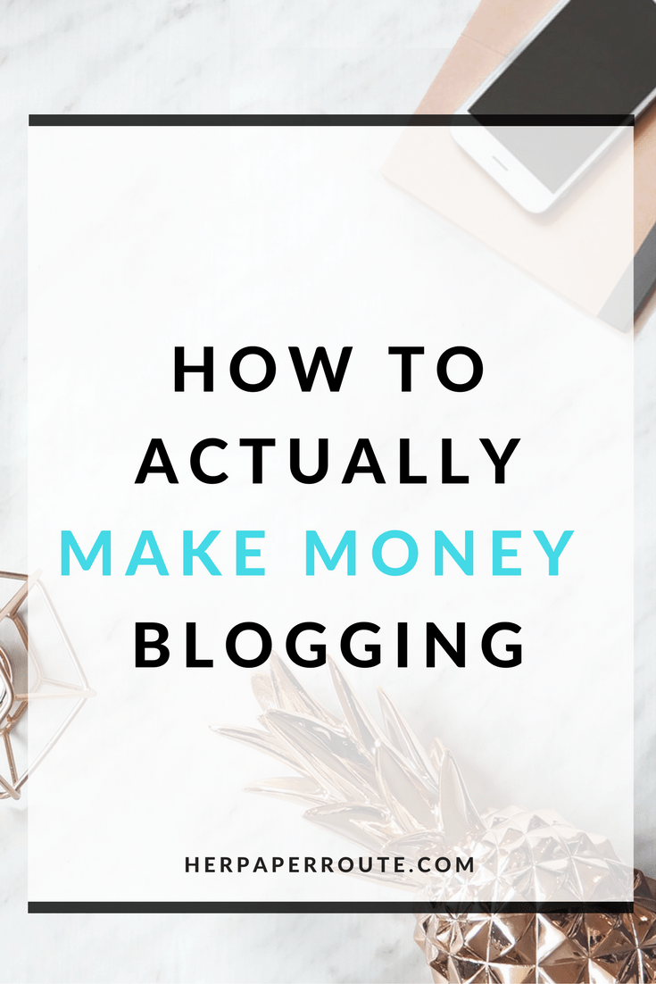 How To Actually Make Money Blogging Tools And Resouces - Passive Income - Affiliates - Content - Social Media - Management - SEO - Promote | www.herpaperroute.com