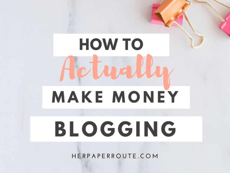 How To Actually Make Money Blogging - Make money online - Affiliate marketing - Sales - Profitable blog - Passive income - Training - How To Start A Blog - How to blog - Work from home - SAHM - Tools And Resouces - Passive Income - Affiliates - Content - Social Media - Management - SEO - Promote   www.herpaperroute.com