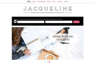Jacqueline WordPress Theme - Minimalist blog themes wordpress themes - 10 Stunningly Beautiful & Unique Minimalist Themes For Your WordPress Blog | herpaperroute.com