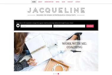 how to install WordPress theme Jacqueline WordPress Theme - Minimalist blog themes wordpress themes - 10 Stunningly Beautiful & Unique Minimalist Themes For Your WordPress Blog | herpaperroute.com