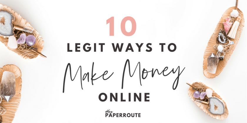 10 Legit ways to make money online - non blogging - ways to make money - wahm sahm work online make money from home - Real Ways To Make Money Online With Minimal Effort - Social Media - Social Media Marketing | www.herpaperroute.com