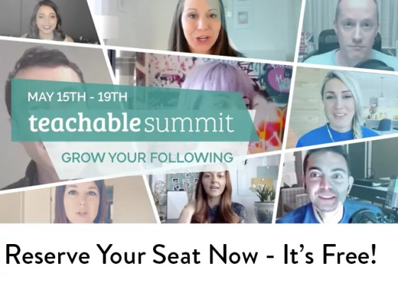 Teachable 4th Annual Online Summit - Grow Your Network, Grow Your Blog - Social Media - Management - SEO - Promote - herpaperroute.com
