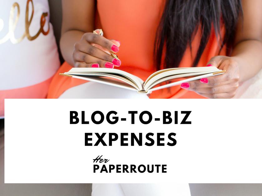 Blogging Business Expenses - Home-Based Business Expenses - Start A Profitable Blog Start A Money-Making Blog - Make Money Blogging - Passive Income - Social Media Marketing | www.herpaperroute.com