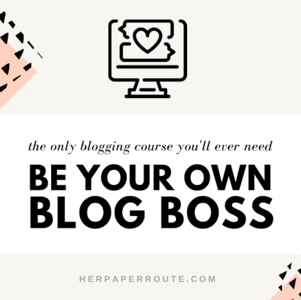 entrepreneur tips be your own blog boss course blogging course make money blogging course learn blogging monetize blog