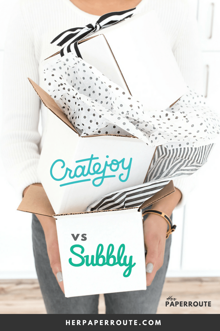 Cratejoy vs Subbly How to start a subscription box busness Make Money online | www.herpaperroute.com