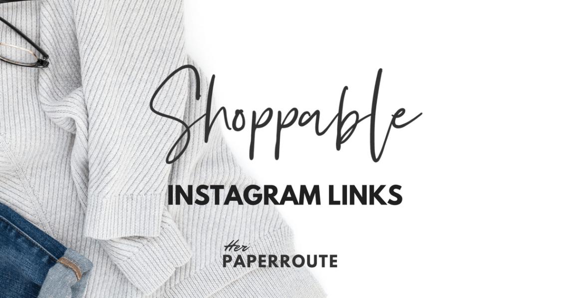 Shoppable Instagram Links! Sell on Instagram with shoppable clickable links. Links on Instagram. make money blogging - High Paying Affiliate Programs Bloggers Can Join - Make Money Blogging | www.herpaperroute.com