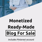 Blog For Sale: Ready-Made Fashion Niche With 260k Pinterest