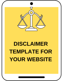 Legal tips for bloggers from a lawyer disclaimer page template legal blogging HerPaperRoute.com