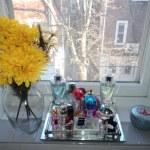 Small City Living Spaces {Shelf Decorating Ideas}
