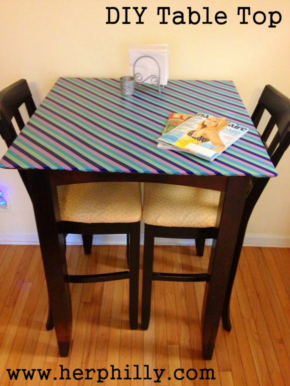 DIY Table Top customized with Japanese Paper Washi Tape / Her Philly