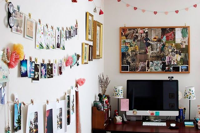 Office Inspiration // Her Philly Small Apartment Space Decorating Ideas via Pinterest
