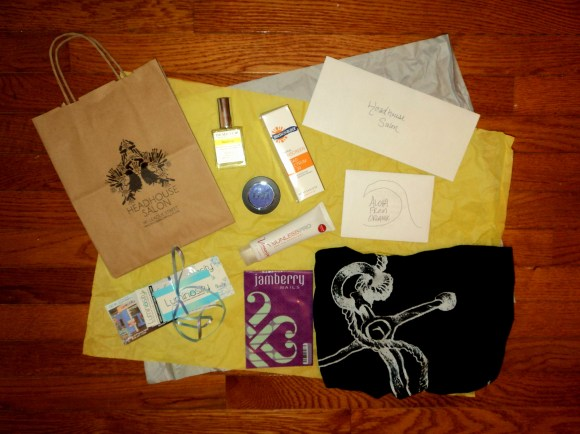 Goodies from Organik Clothing, Susan Posnick, Demeter, Luminosity, Fine Featherheads, Jamberry. & Headhouse Salon // Her Philly