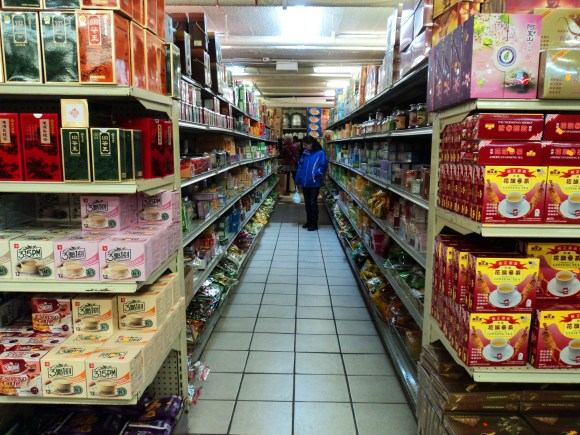 Tea aisle in a Philadelphia Chinatown supermarket // Her Philly