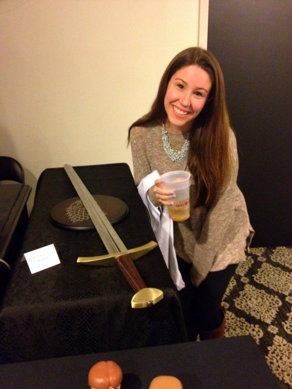 Robb Stark's sword at the GOT Premiere