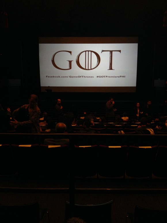 #GoTPremierePHI Philadelphia Game of Thrones Season 4 Premiere