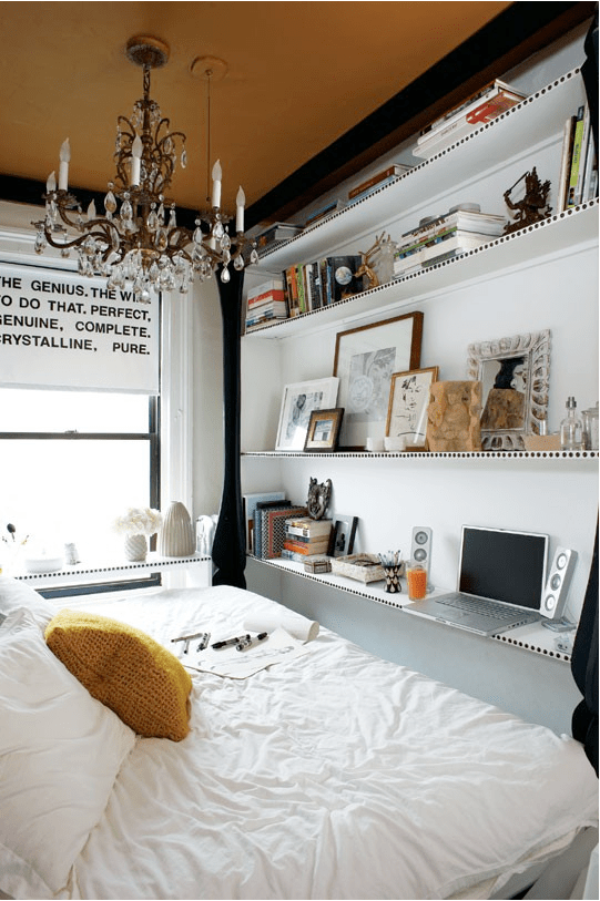 How to organize a tiny bedroom // Her Philly