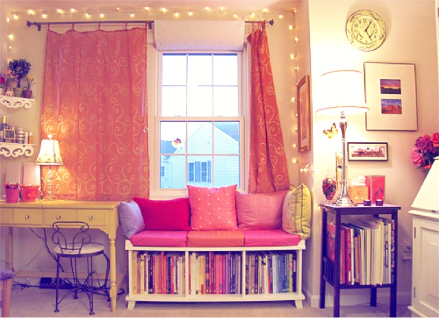 Pretty pink organized girly bedroom // Her Philly