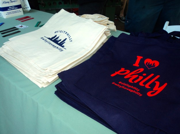 Visit Philly tote bags // Her Philly
