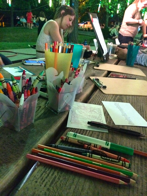 Coloring at the #WhyILovePhilly party at SSHP // Her Philly